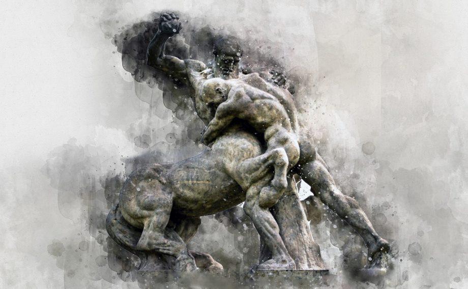 skulptura poraz